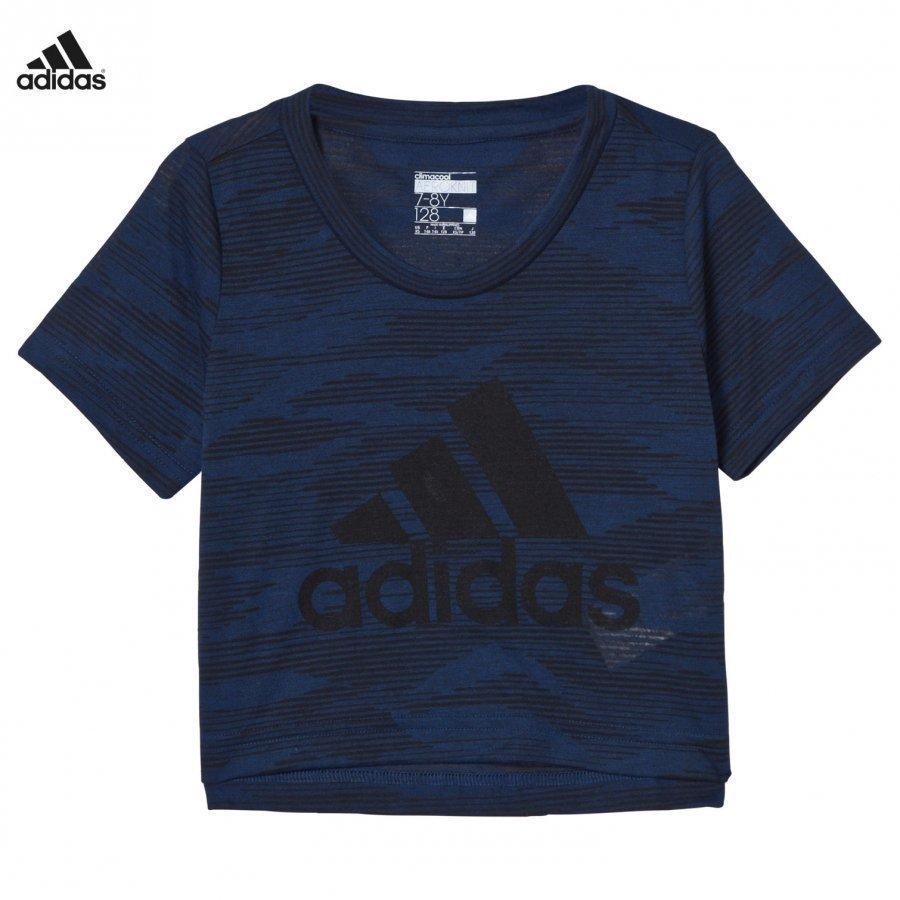 Adidas Performance Blue Aeroknit Branded Tee T-Paita