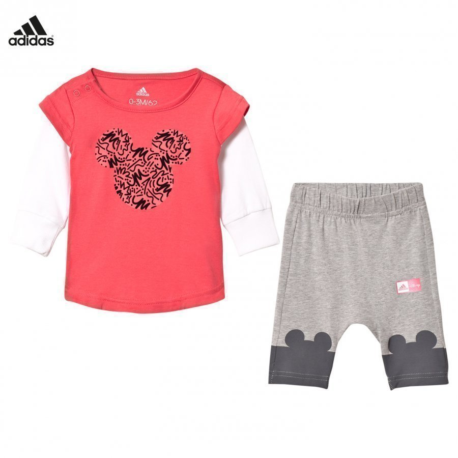Adidas Performance Disney Micky Mouse Infants Tee And Leggings Set Asusetti