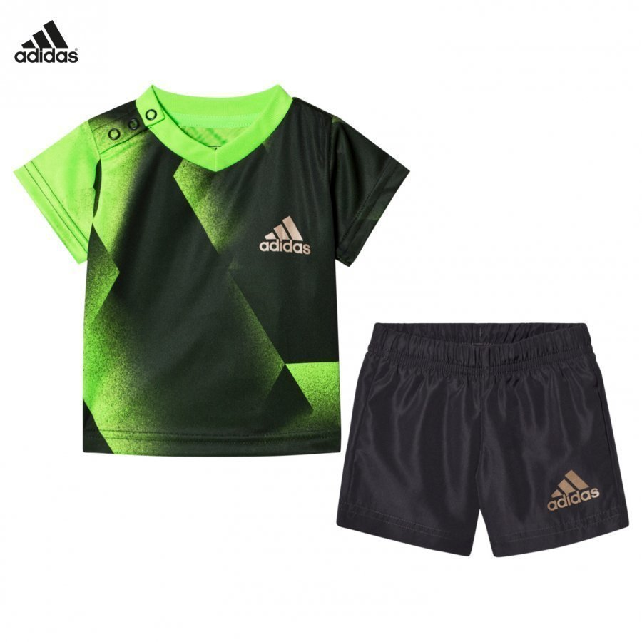 Adidas Performance Green Football Silo Shorts And Tee Asusetti