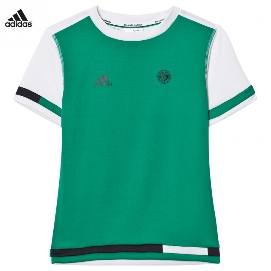 Adidas Performance Green Roland Garros Tennis Tee T-Paita