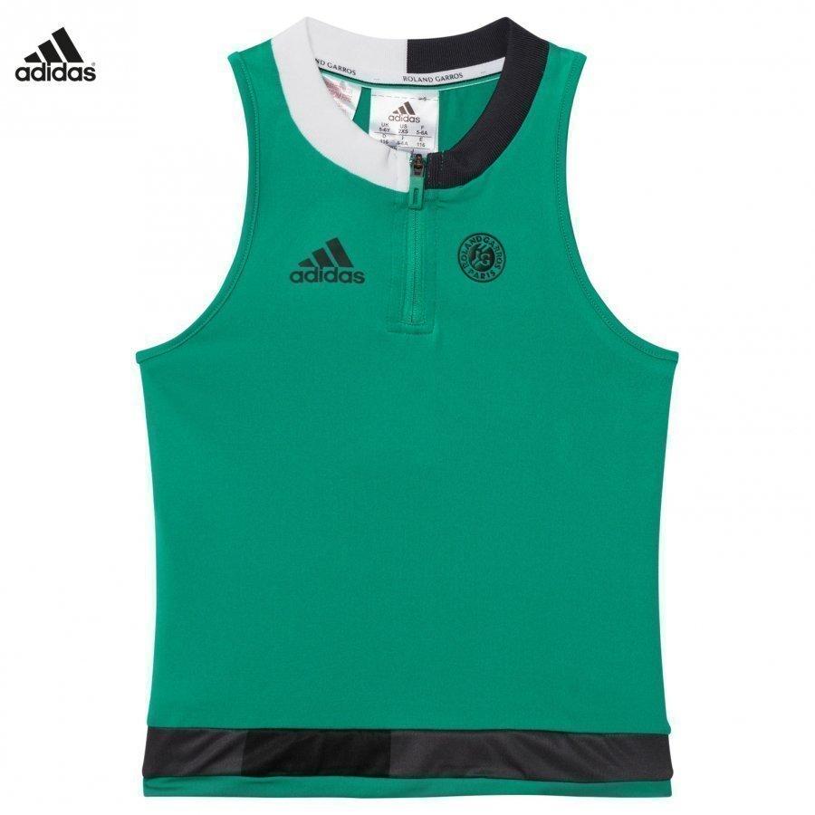 Adidas Performance Green Roland Garros Tennis Top Liivi