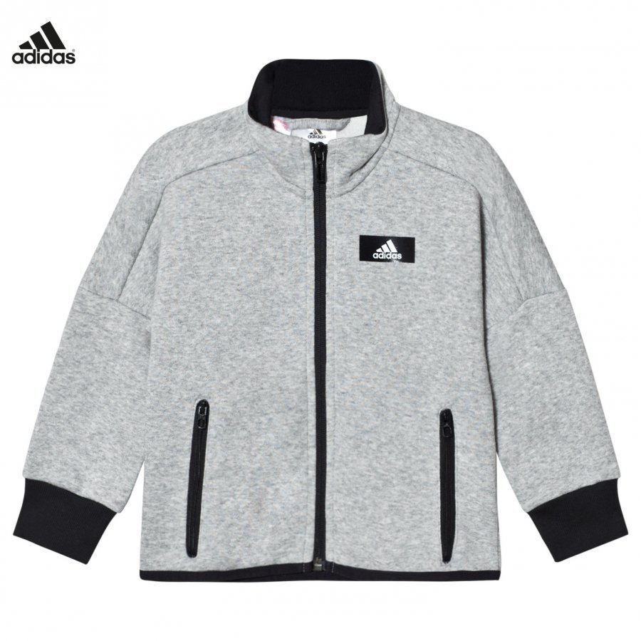 Adidas Performance Grey Full Zip Track Top Liivi