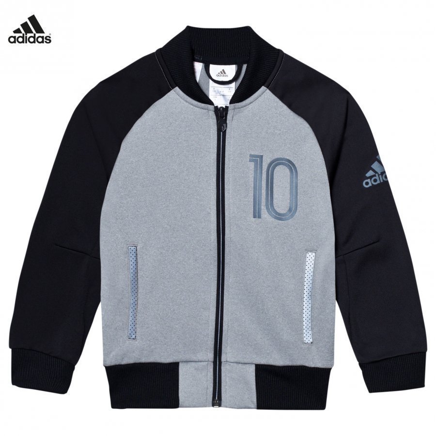 Adidas Performance Grey Messi Zip Sweater Jacket Verryttelytakki