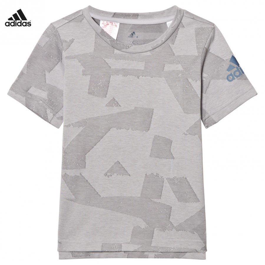 Adidas Performance Grey Printed Performance Training Tee T-Paita