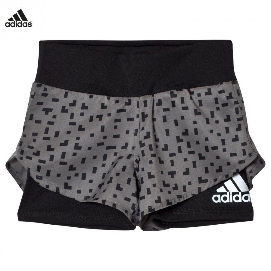 Adidas Performance Grey Printed Running Shorts Urheilushortsit