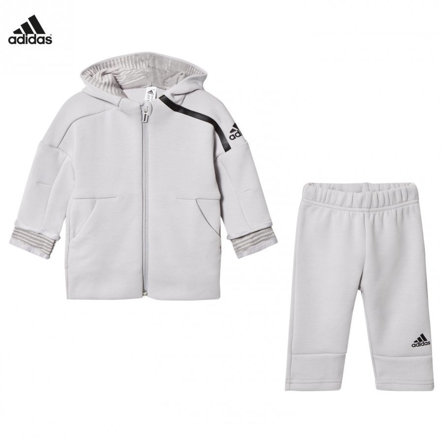 Adidas Performance Infants Zone Hoodie Sweatpants Set Grey Asusetti