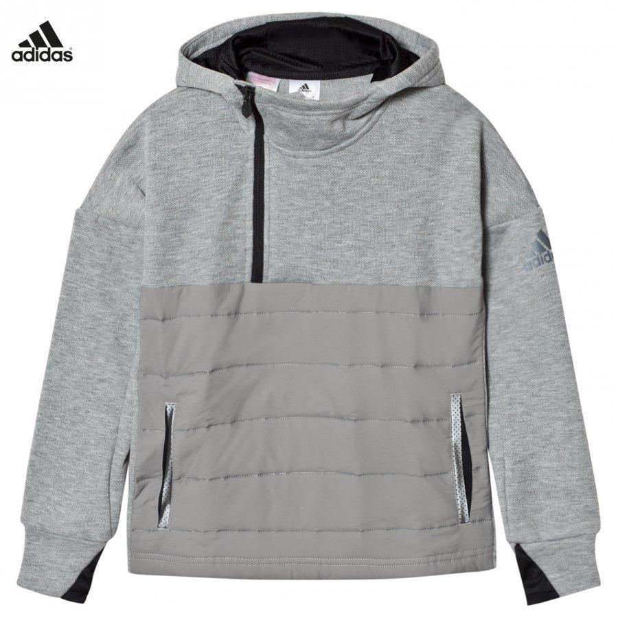 Adidas Performance Messi Zip Hoodie Grey Huppari