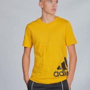 Adidas Performance Mh Bos T2 T-Paita Keltainen