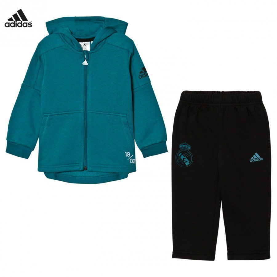 Adidas Performance Real Madrid Infant Hoodie And Sweatpants Set Asusetti
