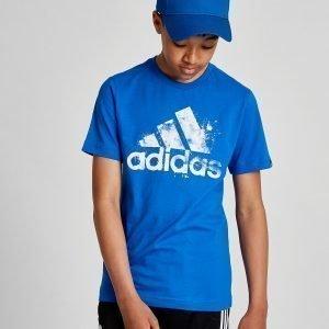 Adidas Performance Splatter T-Paita Sininen