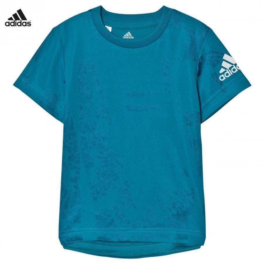 Adidas Performance Teal Kids Training Tee T-Paita