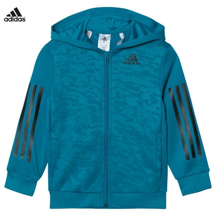 Adidas Performance Teal Training Full Zip Hoodie Huppari