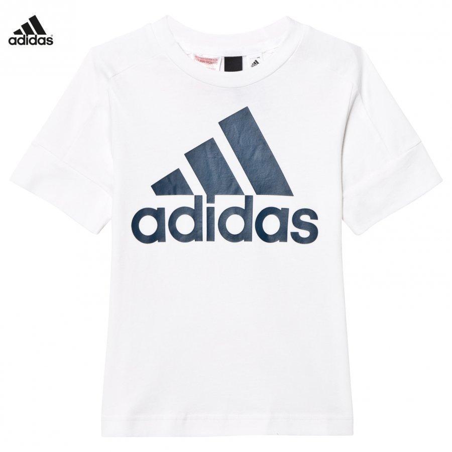 Adidas Performance White Id Logo Tee T-Paita