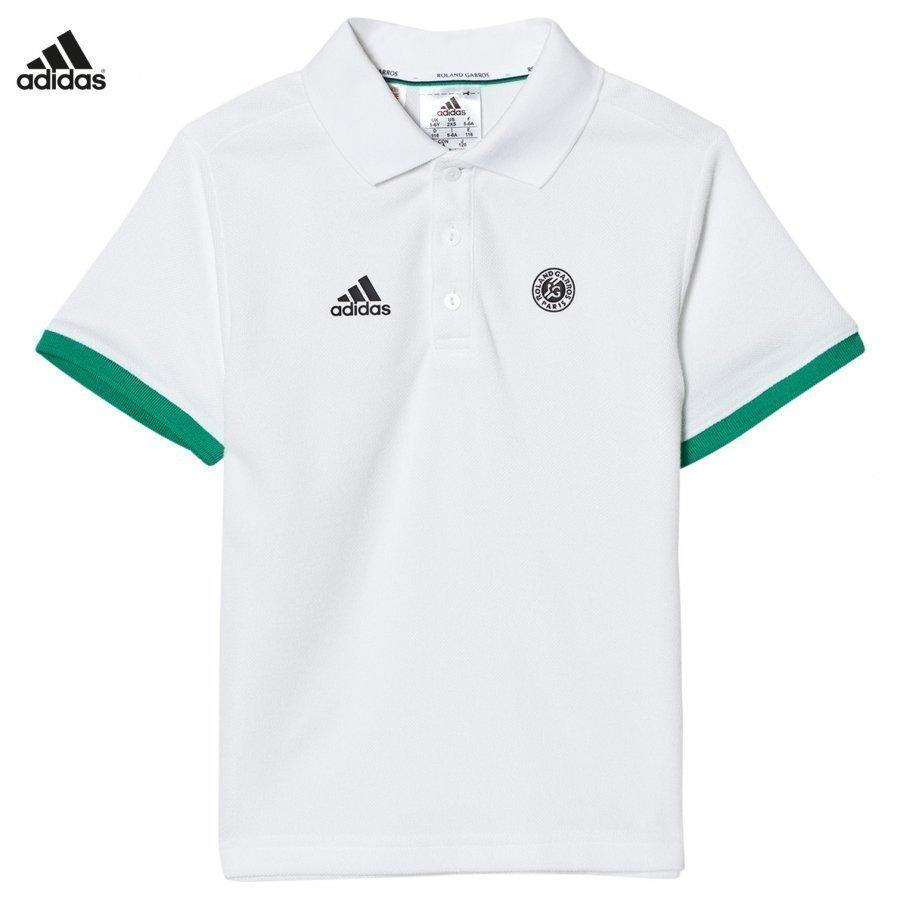 Adidas Performance White Roland Garros Tennis Polo Pikeepaita