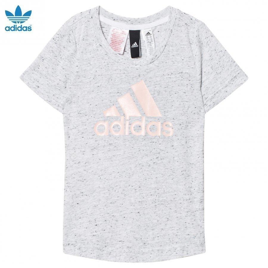 Adidas Performance White/Black Id Tee T-Paita