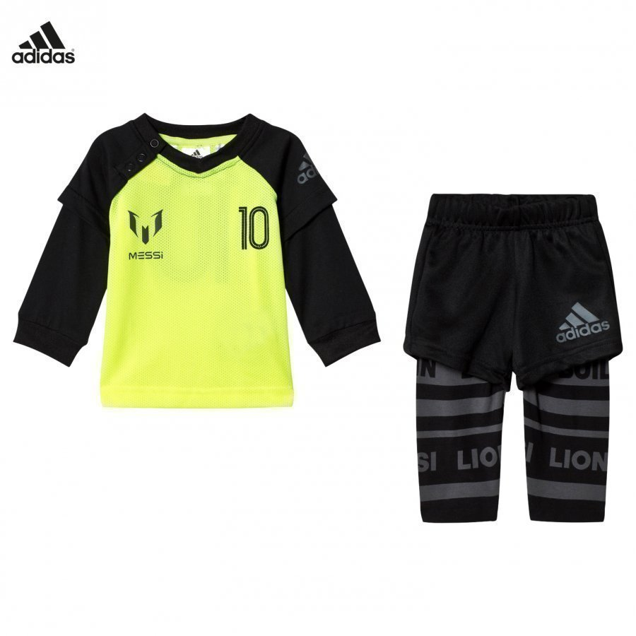 Adidas Performance Yellow Infants Messi Top Bottoms Set Asusetti