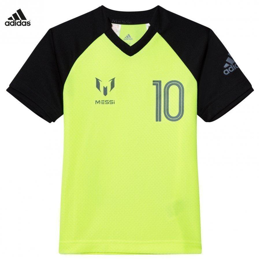 Adidas Performance Yellow Messi Icon Tee T-Paita