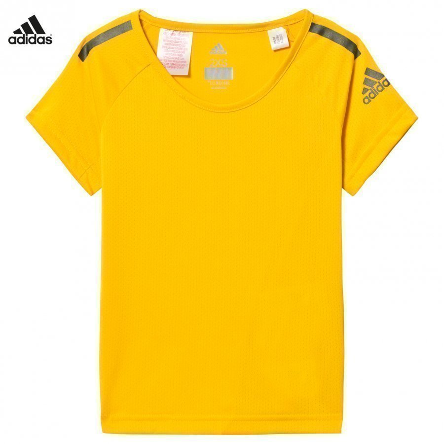 Adidas Performance Yellow Training Cool Tee T-Paita