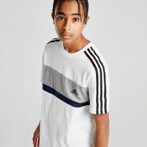 Adidas Sport Colour Block T-Shirt Valkoinen