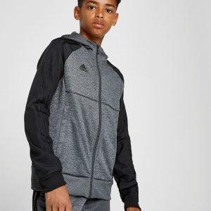 Adidas Tango Full Zip Woven Sleeve Huppari Harmaa