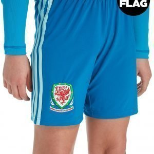 Adidas Wales 2018/19 Home Goalkeeper Shorts Sininen