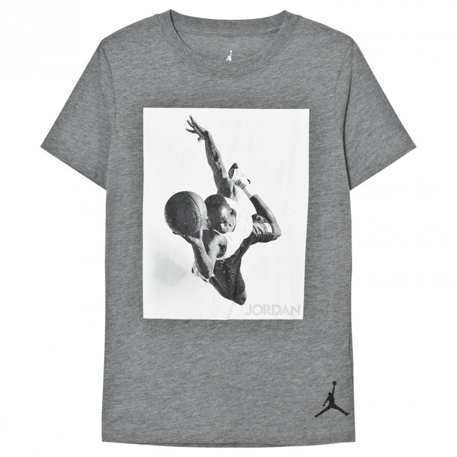 Air Jordan Grey Carbon Heather Flight Heritage Tee T-Paita