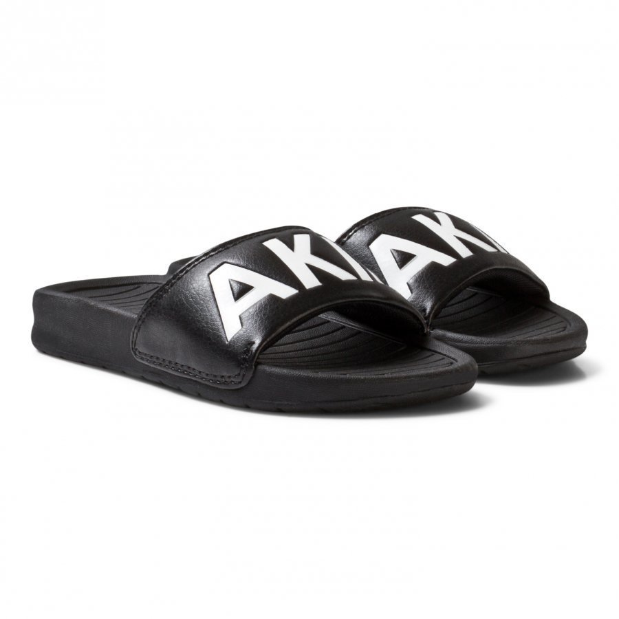 Akid Black Classic Aston Sliders Slip On Sandaalit