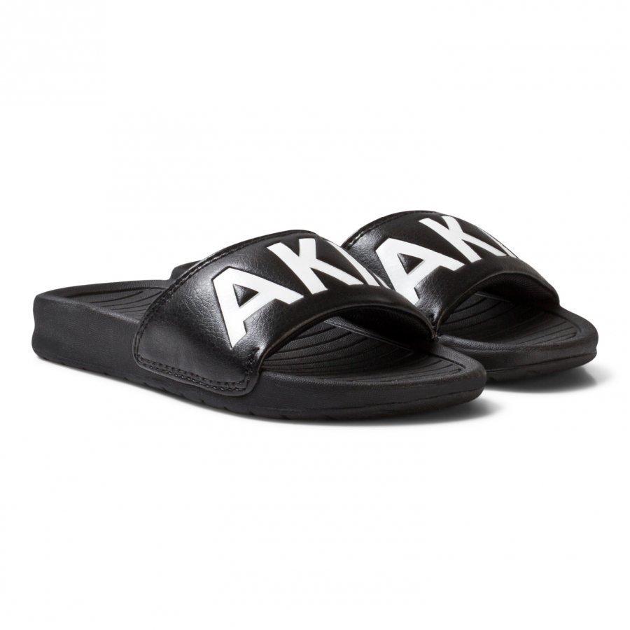 Akid Black Classic Aston Sliders Slip On Sandaalit