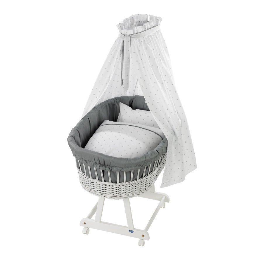 Alvi Vauvan Korisänky Birthe Sänkysetillä Valkoinen Bellybutton Classic Star Grey