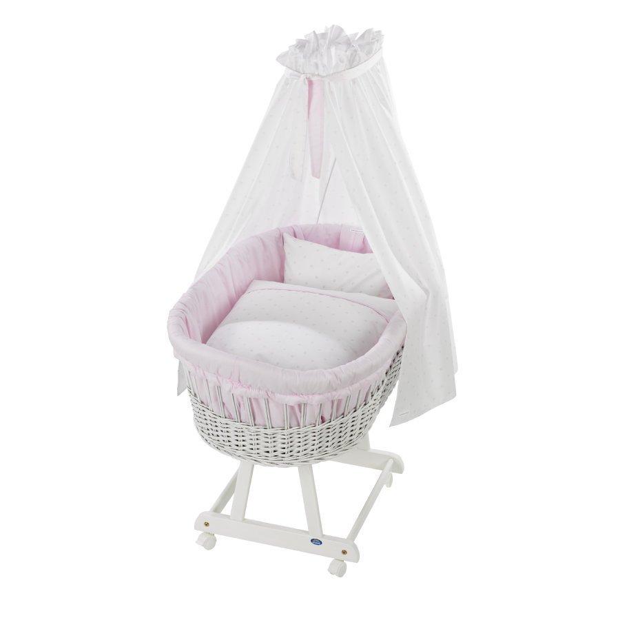 Alvi Vauvan Korisänky Birthe Sänkysetillä Valkoinen Bellybutton Classic Star Rose