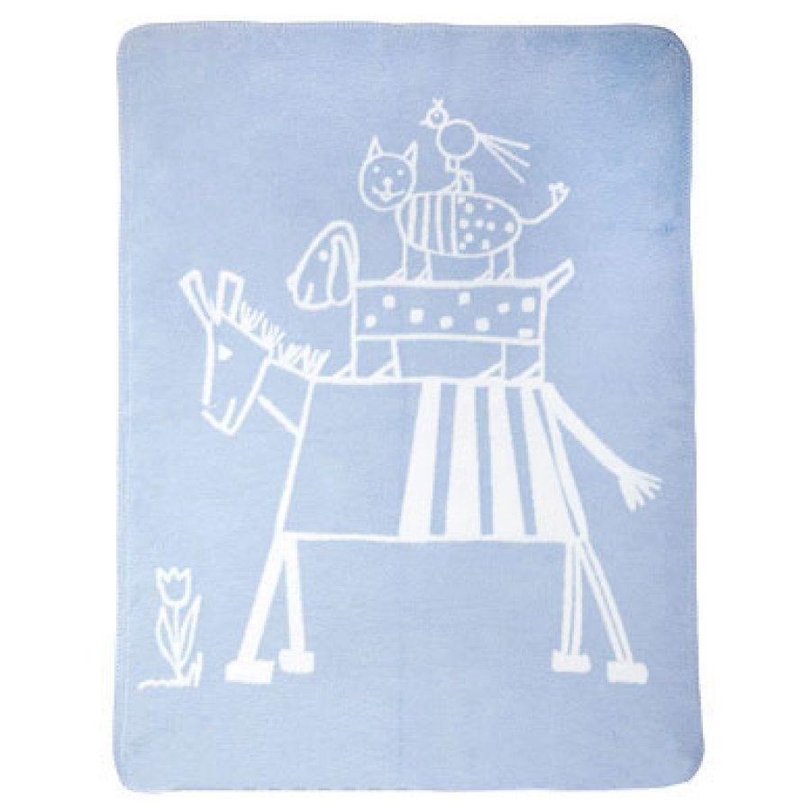Alvi Vauvan Peitto Puuvilla 75 X 100 Cm Design Muusikot Sininen