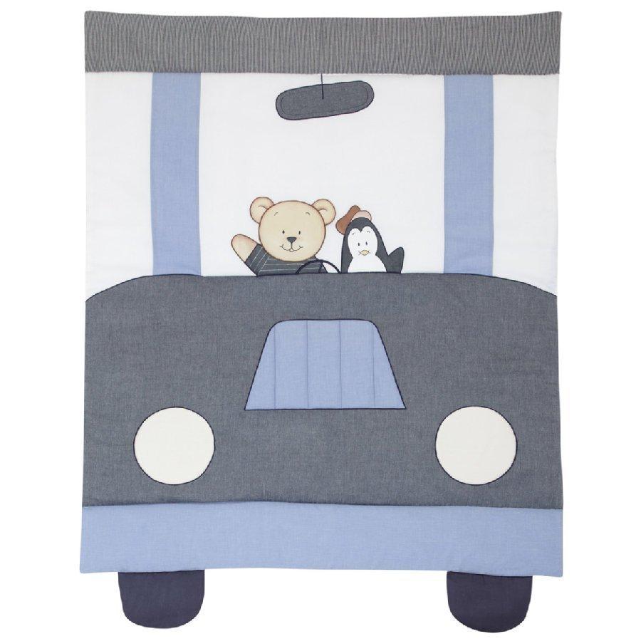 Alvi Vauvan Ryömimis Ja Leikkialusta Painokuviolla Car Driver Sininen