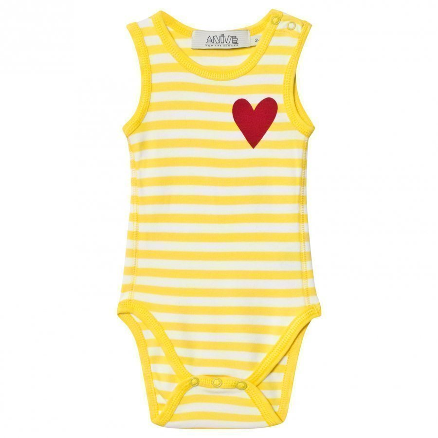 Anïve For The Minors Baby Body Happy Yellow/White Stripes Body