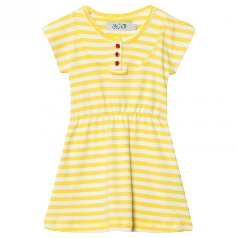 Anïve For The Minors Dress Happy Yellow/White Stripes Mekko
