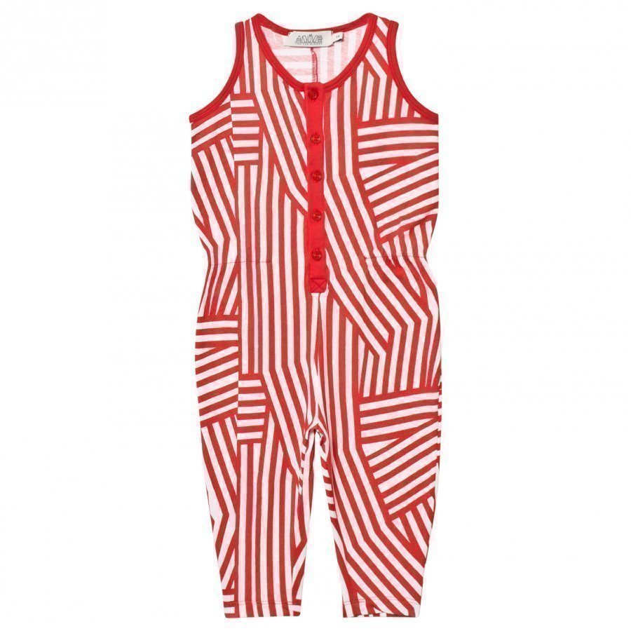 Anïve For The Minors Jumpsuit Tokyo White/Red Potkupuku
