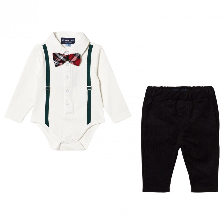 Andy & Evan Holiday Polo Shirtzie Set Asusetti