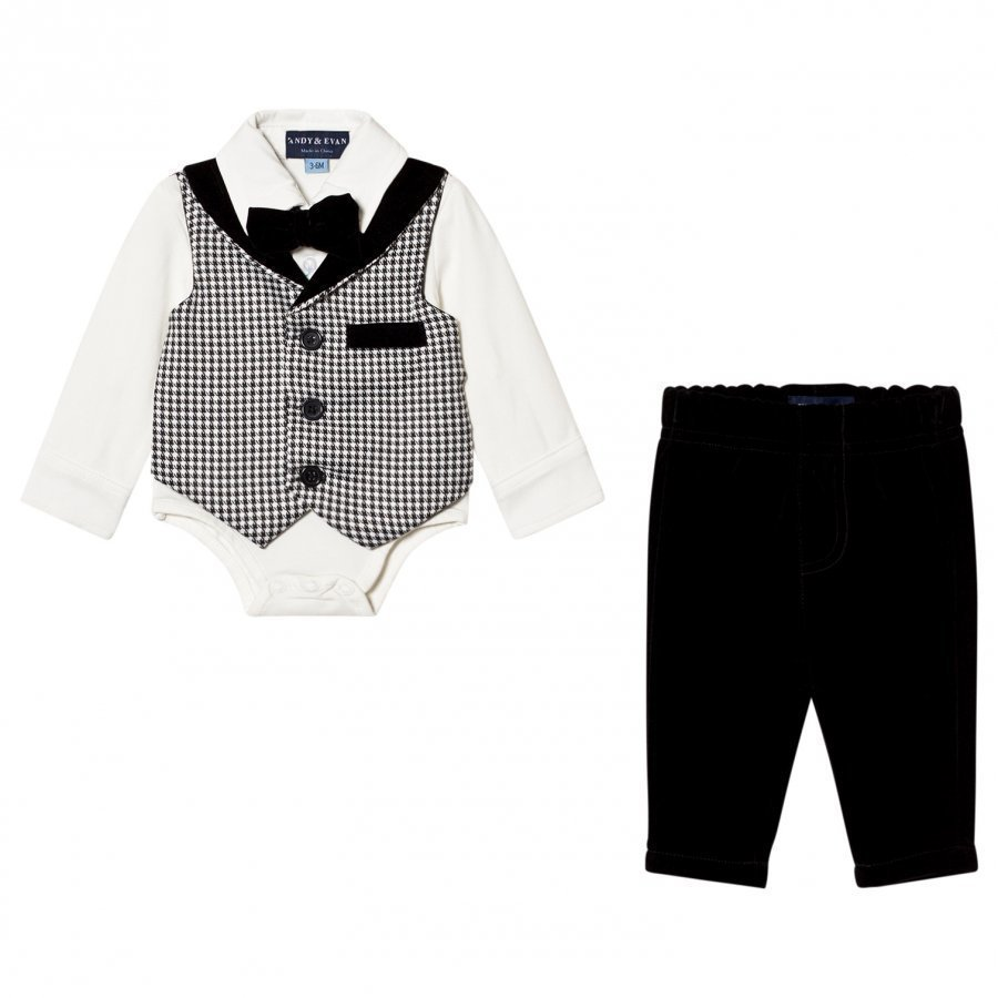Andy & Evan Houndstooth Playsuit Asusetti