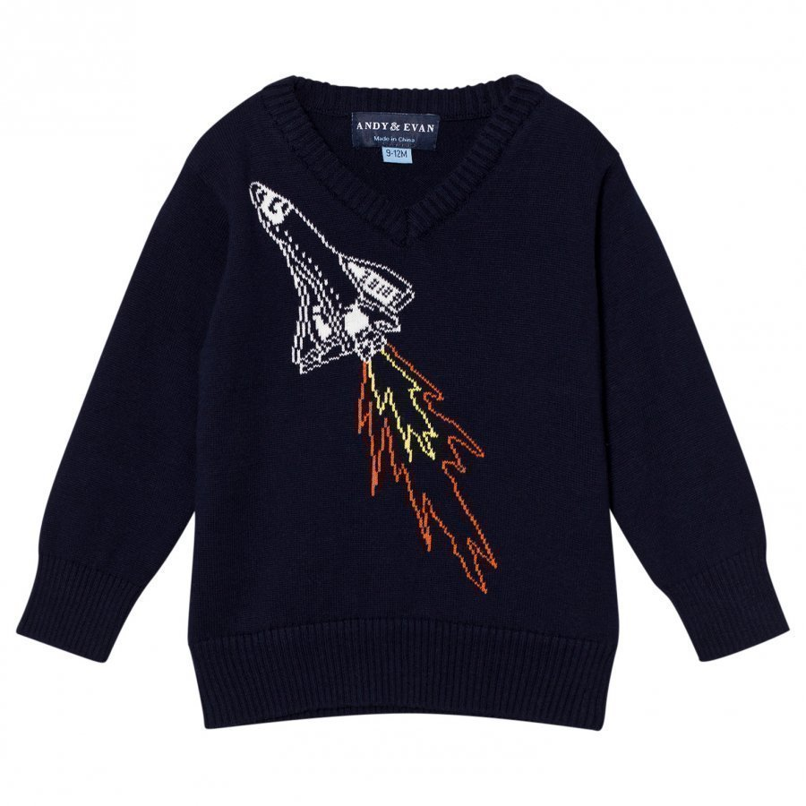 Andy & Evan Navy Spaceship Sweater Oloasun Paita