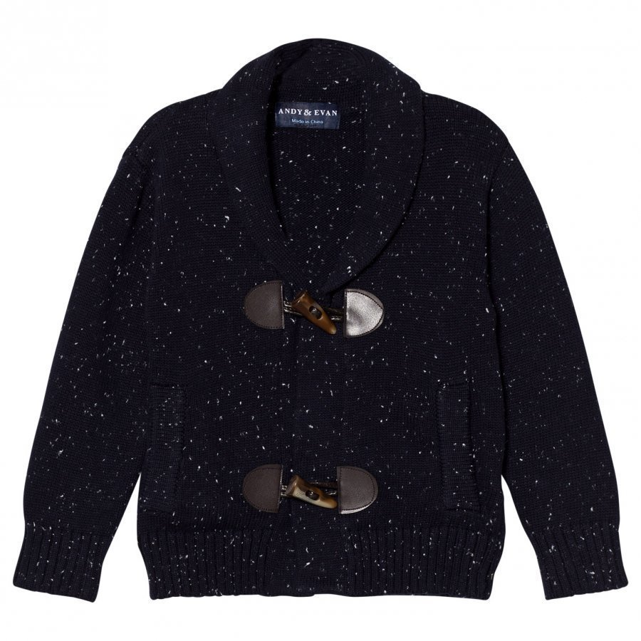 Andy & Evan Navy White Slub Toggle Cardigan Neuletakki