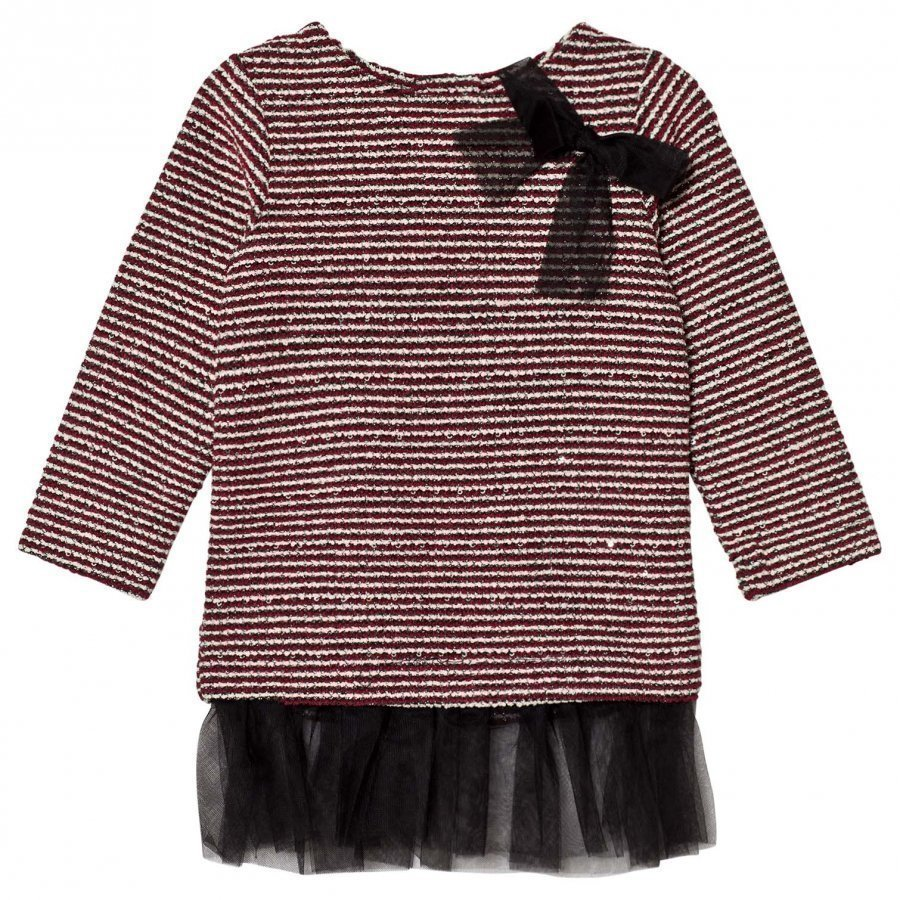Andy & Evan Rainbow Dust Maroon Sequins Sweater Stripe Tunic Ballerinamekko
