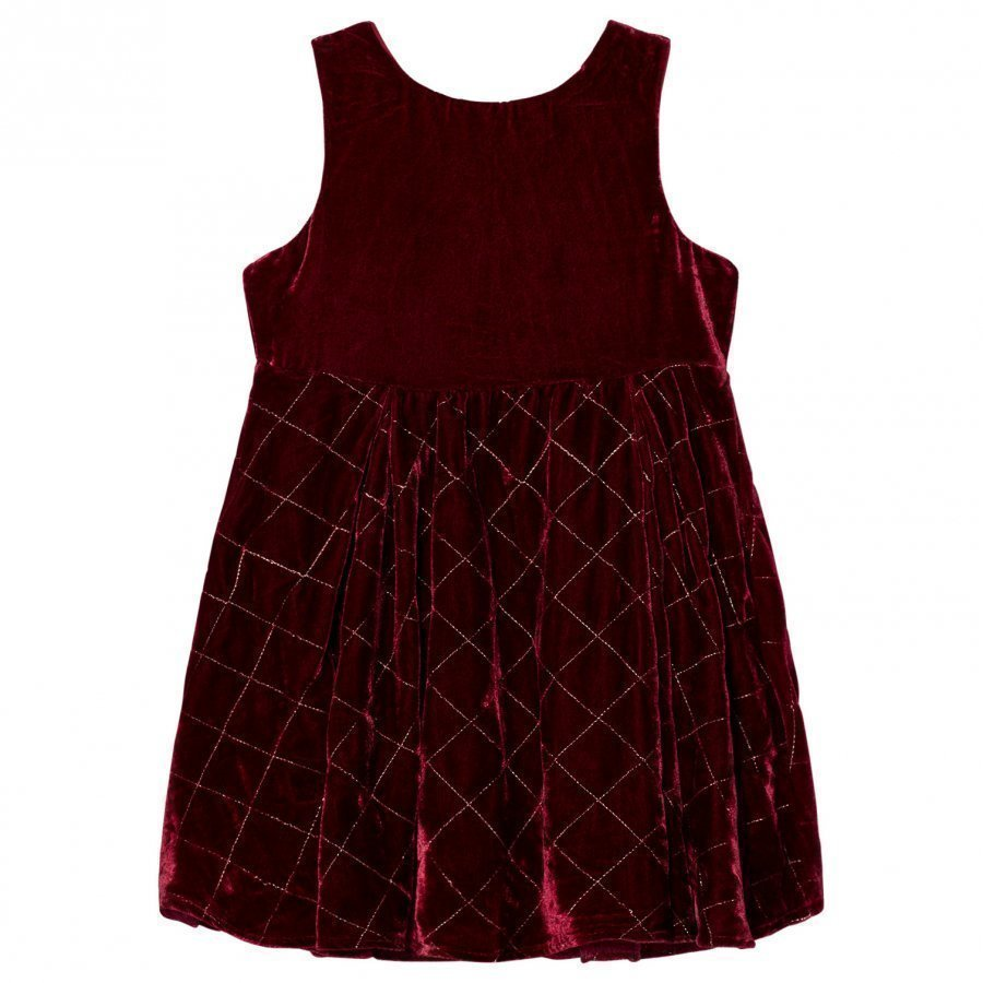Andy & Evan Red Maroon Quilted Sleeveless Dress Juhlamekko