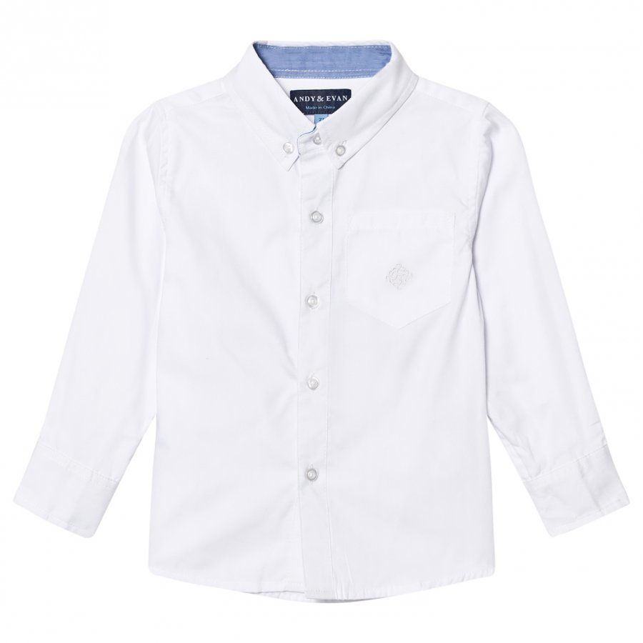 Andy & Evan White Oxford Button Down Shirt Kauluspaita
