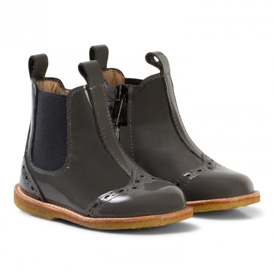 Angulus Chelsea Booties With Stitched Detail Dark Grey Nilkkurit