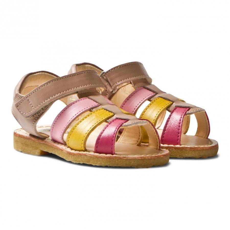 Angulus Multi Color Open Toe Sandals Remmisandaalit