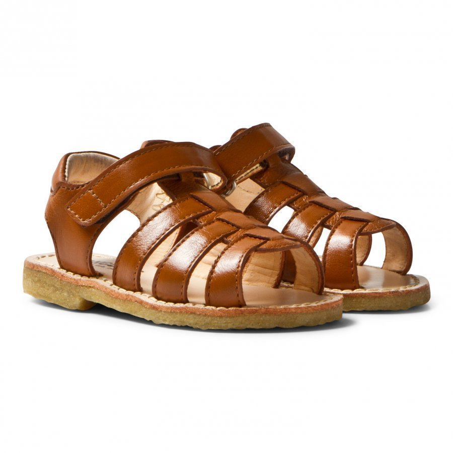 Angulus Tan Open Toe Sandals Remmisandaalit