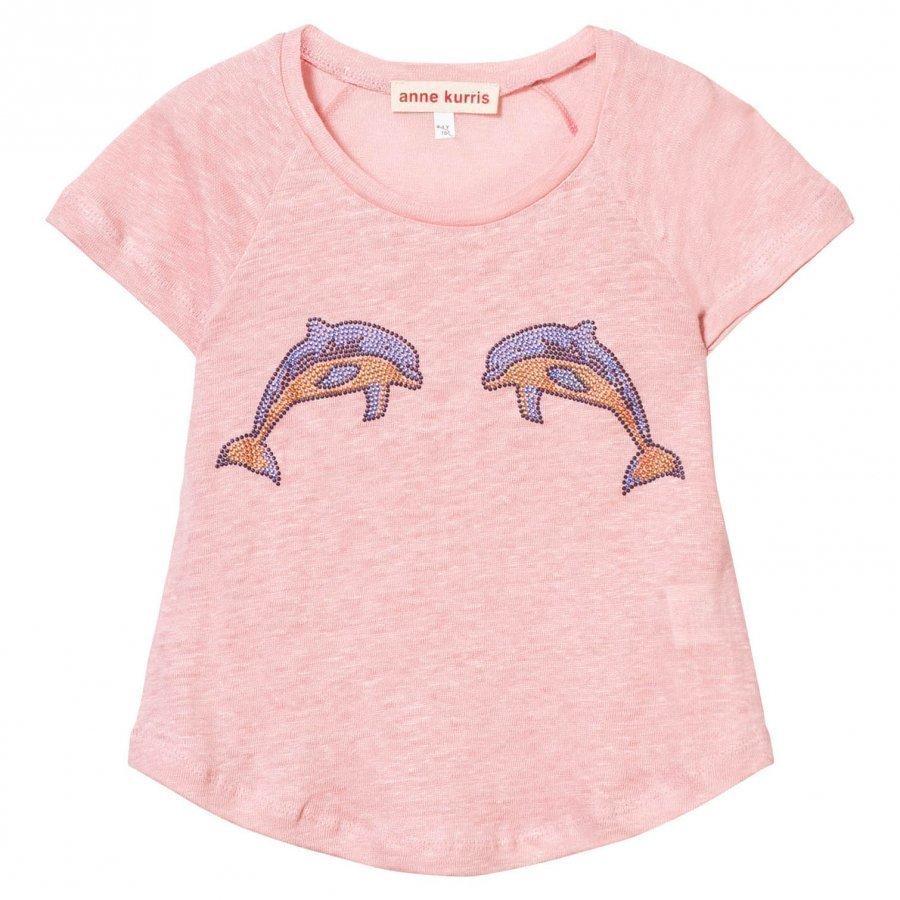Anne Kurris Pink Dolphin Stud Tee T-Paita