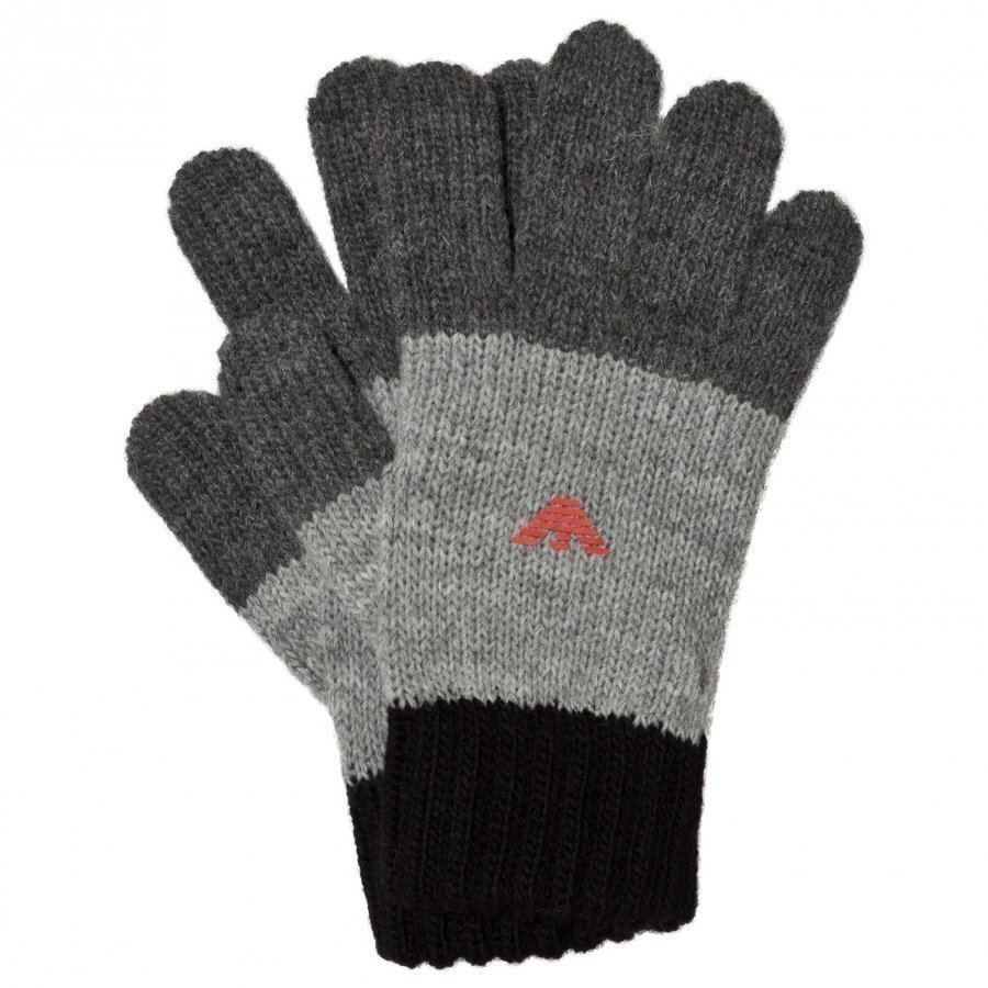Armani Junior Black And Grey Logo Gloves Fleece Hanskat