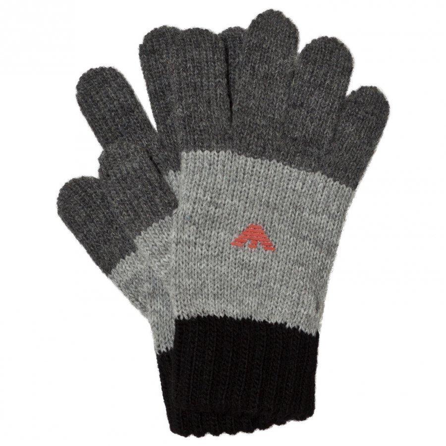 Armani Junior Black And Grey Logo Gloves Fleece Hanskat