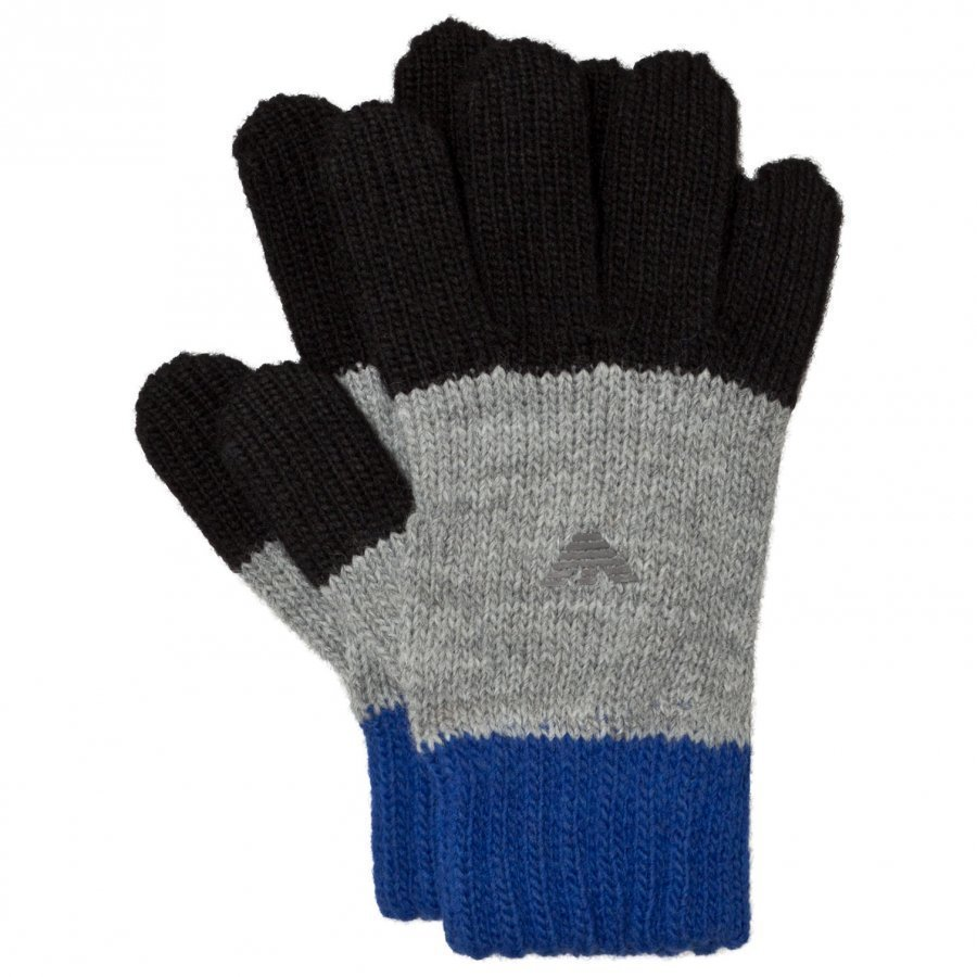 Armani Junior Blue And Grey Logo Gloves Fleece Hanskat