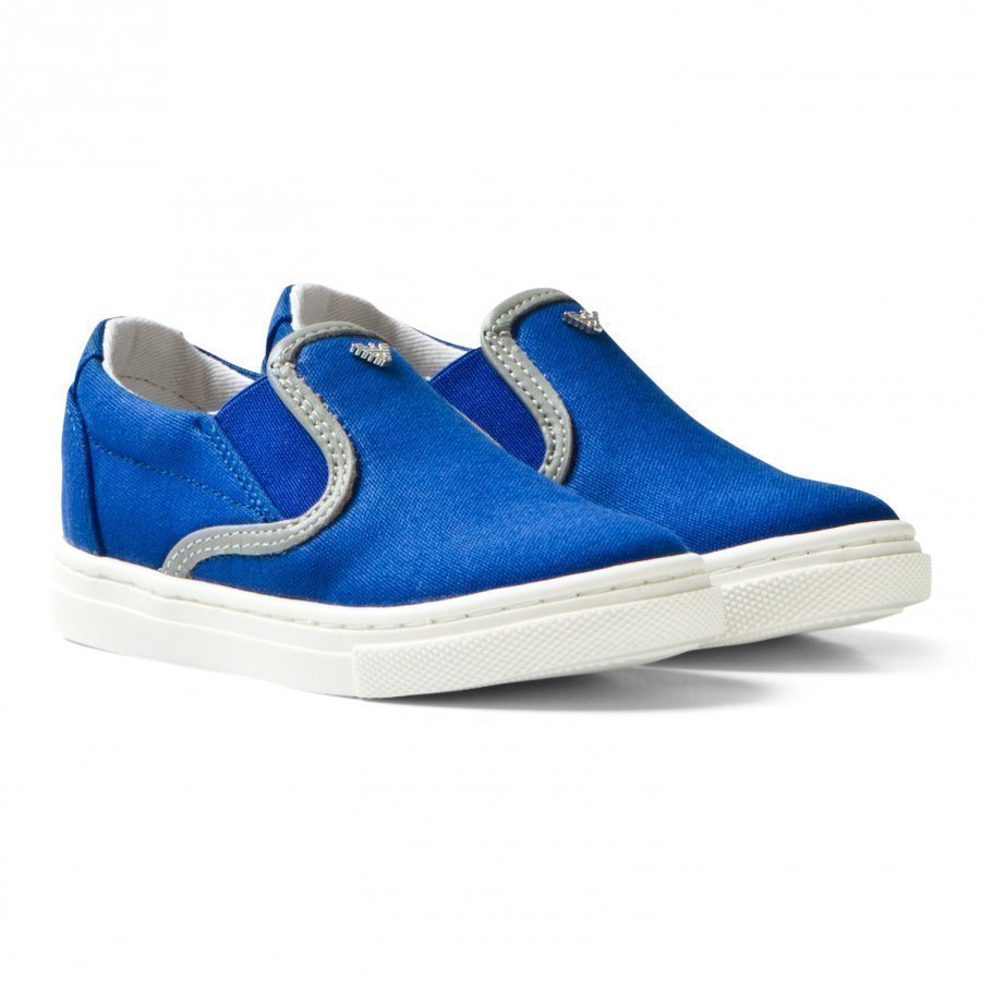 Armani Junior Blue Branded Slip On Shoes Lenkkarit